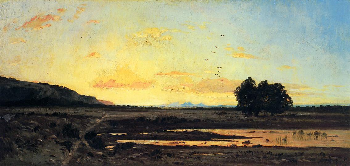 Rememberance of la Caru, Sunset, 1869